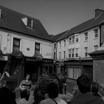 Sligo Secret Scripture Walking Tour - group pictured beside Lady of Erin - Market Street