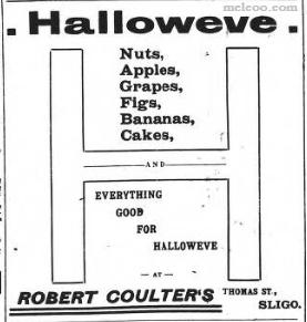 Halloween in Sligo in times past
